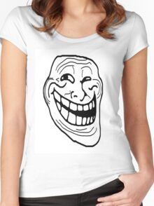 Troll Face Women's Fitted Scoop T-Shirt