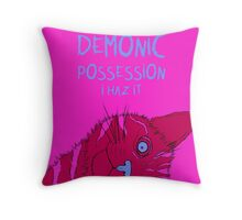 Demonic Cat Throw Pillow