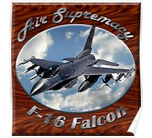 F-16 Falcon Air Supremacy Poster