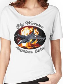 F-16 Falcon Sky Warrior Women's Relaxed Fit T-Shirt