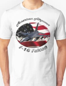 F-16 Falcon American Airpower Unisex T-Shirt