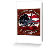 F-16 Falcon American Airpower Greeting Card