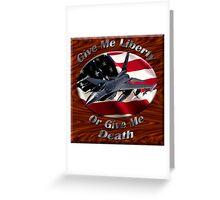F-16 Falcon Give Me Liberty Greeting Card