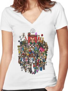 Super Mighty Boosh Women's Fitted V-Neck T-Shirt