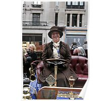 A contestant at the Regent Street Motor Show 2013 Poster