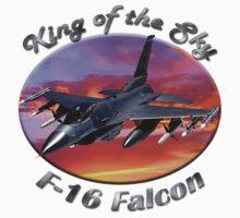 F-16 Falcon King Of The Sky Kids Tee