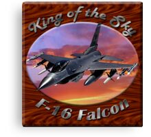 F-16 Falcon King Of The Sky Canvas Print