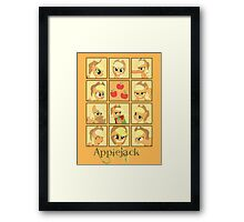 Faces of Applejack Framed Print