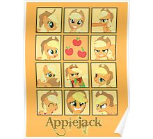 Faces of Applejack Poster