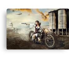 The Steampunk Warrior  Canvas Print