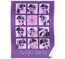 Faces of Twilight Sparkle Poster