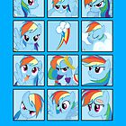 Faces of Rainbow Dash by BowserBasher