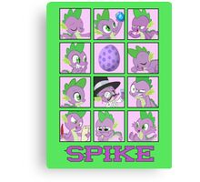 Faces of Spike Canvas Print