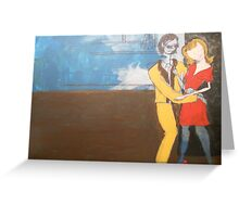 Beatnick scene Greeting Card