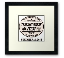 Vintage Once in a Lifetime Thanksgivukkah Framed Print