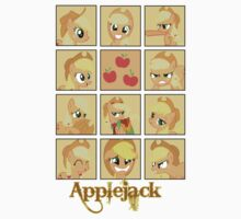 Faces of Applejack One Piece - Short Sleeve