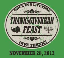 Vintage Once in a Lifetime Thanksgivukkah Baby Tee
