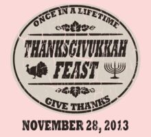 Vintage Once in a Lifetime Thanksgivukkah One Piece - Long Sleeve