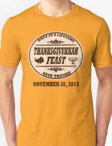 Vintage Once in a Lifetime Thanksgivukkah T-Shirt