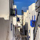 Down a Lane in Mykonos by Tom Gomez