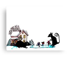 Terror at the Ice Rink Canvas Print
