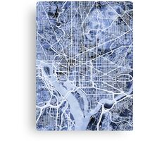 Washington DC Street Map Canvas Print