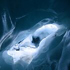 In an ice cave inside Franz Josef Glacer - New Zealand by Nicola Barnard