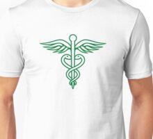Dark green caduceus Unisex T-Shirt