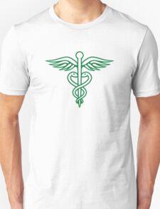 Dark green caduceus T-Shirt