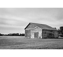 Old Brick and Wood Barn  Photographic Print