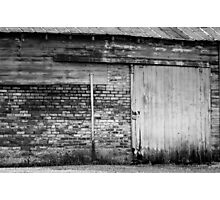 Old Barn Sliding Door  Photographic Print