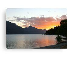 Queenstown Sunset - New Zealand Canvas Print