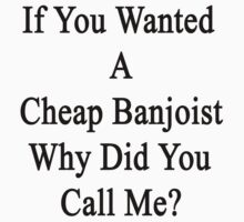 If You Wanted A Cheap Banjoist Why Did You Call Me?  by supernova23