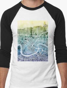New Orleans Street Map Men's Baseball ¾ T-Shirt
