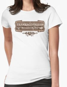 Vintage Thanksgivukkah November 28 2013 Womens Fitted T-Shirt
