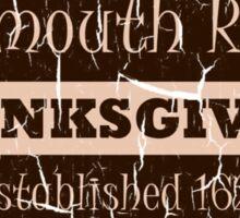 Plymouth Rock Thanksgiving Crest Sticker