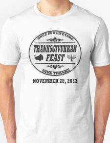 Grey Vintage Celebrate Thanksgivukkah T-Shirt
