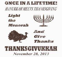 Thanksgivukkah - Light The Menorah and Give Thanks  by xdurango