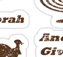 Thanksgivukkah - Light The Menorah and Give Thanks  Sticker