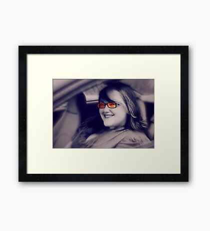 Her smile can light up the room Framed Print