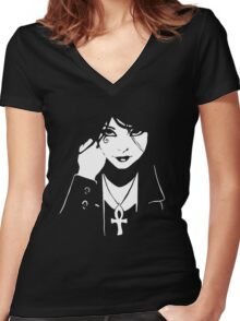 Comics Death Vertigo DC Sandman  Women's Fitted V-Neck T-Shirt
