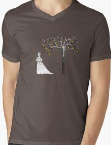 Cinderella and Her Pear Tree Mens V-Neck T-Shirt