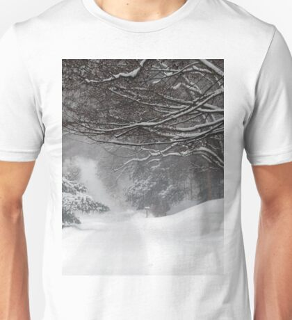 Snowy Road Unisex T-Shirt