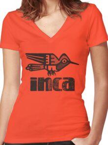Inca (bird) Women's Fitted V-Neck T-Shirt