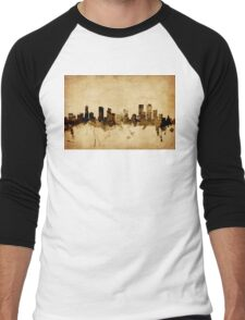 Denver Colorado Skyline Men's Baseball ¾ T-Shirt