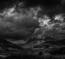 Great Langdale from Blea Tarn by Alan E Taylor