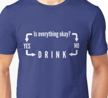 Drink Flow Chart. Is everything okay? Unisex T-Shirt