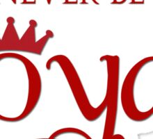 Lorde Inspired - Never Be Royals - Pop Music - Call Me Queen Bee Sticker