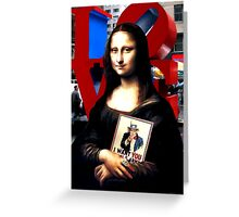 Gioconda Travelling - USA Greeting Card