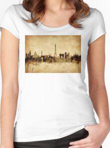 Paris France Skyline Women's Fitted Scoop T-Shirt